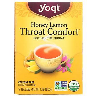 Yogi Honey Lemon Throat Comfort, 16 bags, 1.12 oz (32 g)