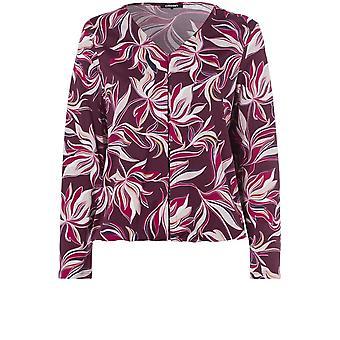 Olsen Berry Floral Design Top