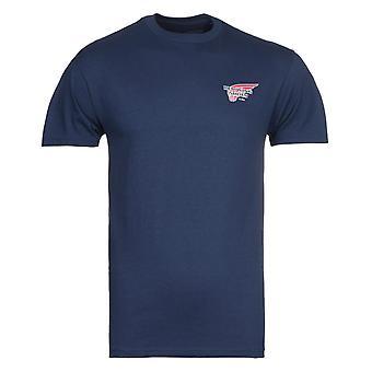 Punainen Wing Basic Logo Navy T-paita