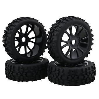 4x Dual 6 Spoke Wheel Rim + Rhombus cauciuc anvelope negru pentru RC1:8 Off Road Car