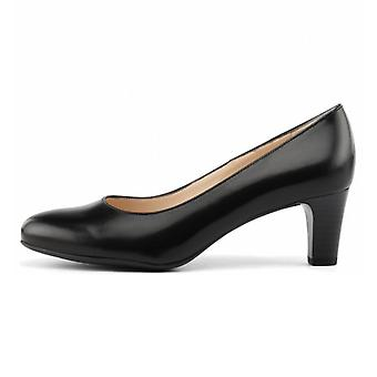 Peter Kaiser Nika Classic Court Shoes In Black Leather