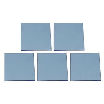 5pcs 8x8x0.23cm Acrylic Sheets DIY Decorated Transparent Blue