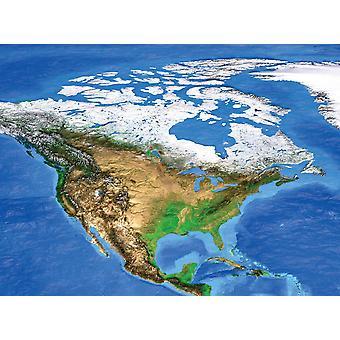 Satellitenansicht von Nordamerika