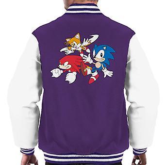Sonic der Igel Knöchel und Schwänze Männer's Varsity Jacke