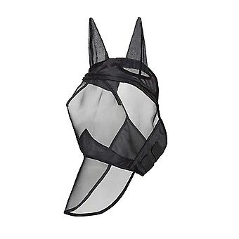 Horse Detachable Mesh Mask With Nasal Cover With Zipper