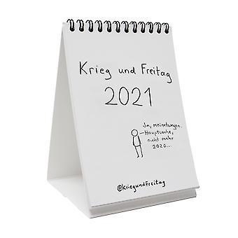 War and Friday Calendar 2021 A6 Table Calendar 2021