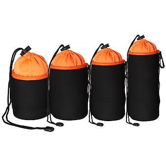4 in 1 SLR Camera Lens Bag Micro Single Lens Bag Lens Binnenste bile bag waterdichte beschermhoes Plus Fluwelen Verdikking (Oranje)