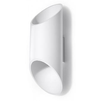 Penne Hvid Aluminium Væg Lys 1 Pære