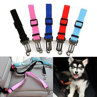 Pet Hund Hund Autorhunde Justerbar Sele Sikkerhedssele Bly Snor til små medier Travel Clip Pet Supplies Mere Color
