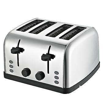 Daewoo Brot Toaster in breitem Edelstahl 4 Schubladen 4 Scheiben