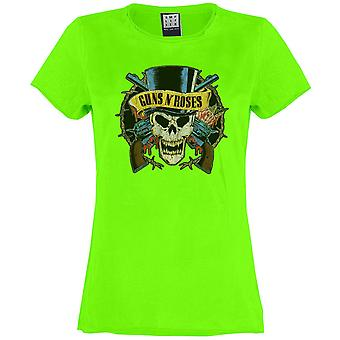Amplified Guns N Roses Death Skull Fitted T-shirt
