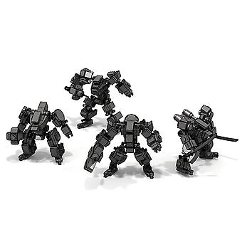Mini Mecha Fighting Warfare Soldier - Model Assembly Small Particle Building
