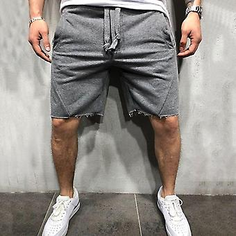 Men Wild Style Ripped Short Pants Jogger Workout