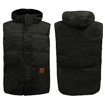 Reebok Mens Zip Up Gilet Hooded Jacket Bodywarmer Black AA8957 A45D