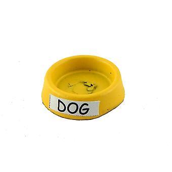 Puppen Haus gelb Hund Essen Schale Wasser Schale Miniatur 01:12 Maßstab Haustier Zubehör
