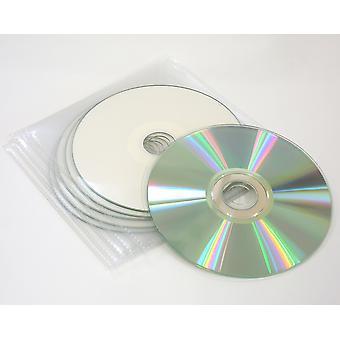 5 X traxdata ritek full-face inkjet printable cd in hq plastic wallets 52x speed