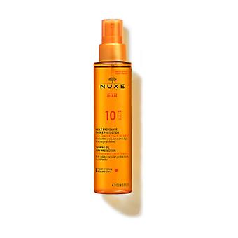 Tanning oil for face and body SPF10 150 ml of oil