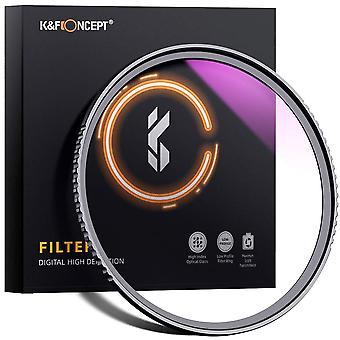 K&f έννοια 46mm uv φίλτρο εξαιρετικά λεπτό υψηλής ιαπωνίας οπτικό πολυ επικαλυμμένο υπεριώδες φίλτρο φακών προστασίας