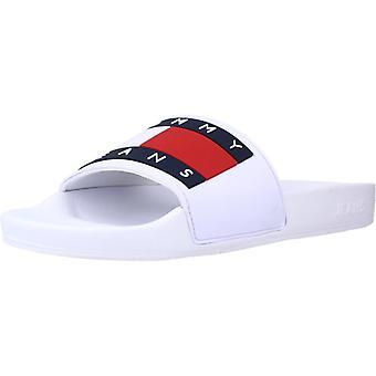 Tommy Jeans Sandals Flag Pool Sl Couleur Ybrwhite