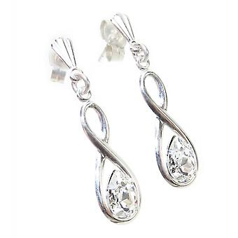 Sterling Silver Drop Oorbellen .925 X 1 Paar