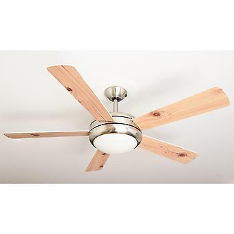 """Stropný ventilátor Ursa biela & amp; Borovica 132cm/52 """"so svetlom"""