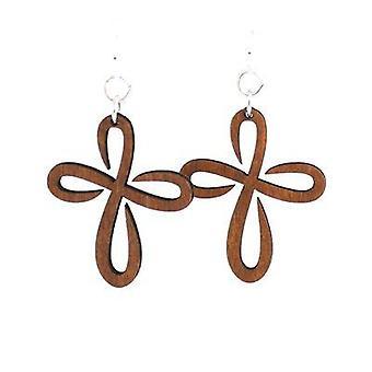 Infinity Cross Earrings