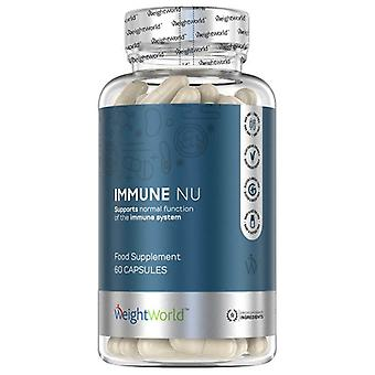Immune NU - Immunity Boosting Supplement With 23 Ingredients, Boosts Immunity, Bee Propolis, Royal Jelly, Multivitamin Complex, 60 Vegetarian Capsules