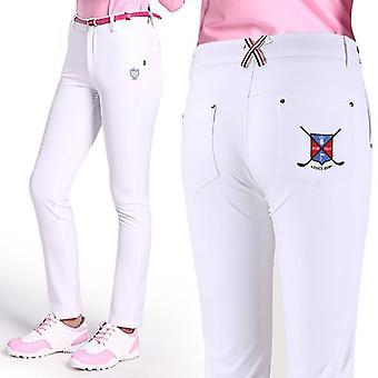 Похудение высокой эластичной женщины гольф брюки, брюки