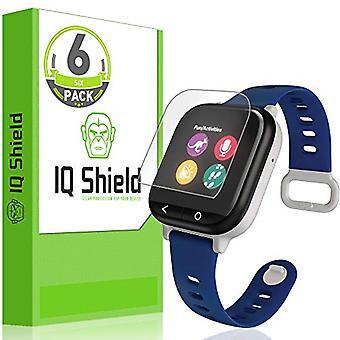 IQ Shield Screen Protector kompatibel mit Verizon GizmoWatch (6-Pack)(Full Coverage) Anti-Bubble Clear Film
