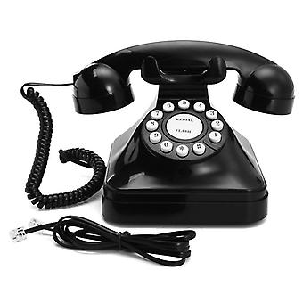 Vintage Retro Antic Telefon Cu fir Cu fir Telefon fix Home Desk Decorare Negru