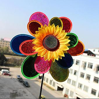 Colorful Sunflower Wind Spinner Garden Decor