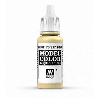 Vallejo Model Color 17ml Acrylic Paint - 917 Beige