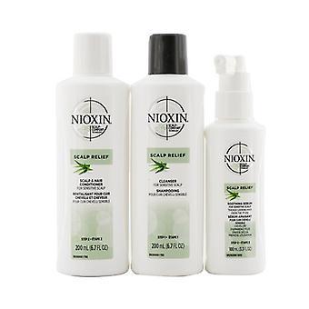 Kit del sistema de alivio del cuero cabelludo de Nioxin - Para cuero cabelludo sensible 3pcs
