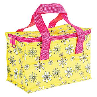 Insulated Lunch Bag Patterned Foil Lined Picnic Sandwich Box Daisies
