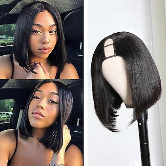 Bob Human Hair U Parte Peruca Straight Colasless Brasileira Virgem Humana