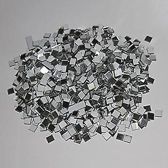 100pcs/lot Mini Square Glass Mirror Mosaic Tiles For Diy Home Decoration (as