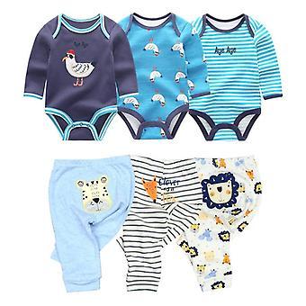 Bavlněné dětské oblečení Bodysuits a kalhoty Sety