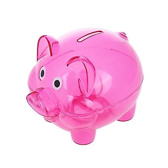 Plastic Transparent Piggy Bank Box Coin