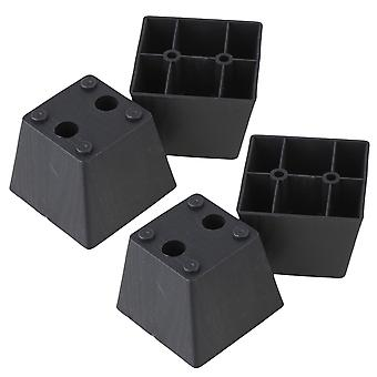 4PCS Plastic Trapezoid Furniture Legs Feet for Couch Bed 60 x 75 x 55mm