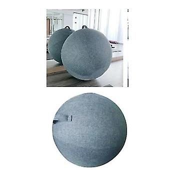 Blue Yoga Ball Cover 65cm Pilates Sitting Ball Chair Dustproof Protector Slipcover