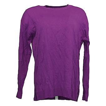 Isaac Mizrahi En direct! Femmes & s Sweater Crew-Neck Pullover Purple A384076