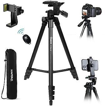 HanFei Kamera Stativ 153cm Erweiterbarer Handliche Stativ aus Aluminium Tragfhigkeit 3KG Dreibeinstativ