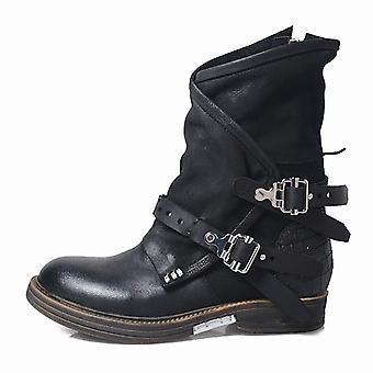 Moottoripyörä saappaat retro viileä vyö vetoketju syksyn kengät