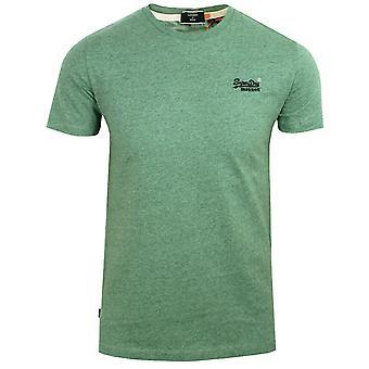 Superdry men's seagrass green grit t-shirt