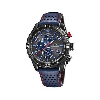 Herenhorloge Festina F20519-3 - Blauwe leren armband