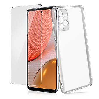 Galaxy A72 Hard Cover and 4Smarts Tempered Glass 9H Screen protector clear