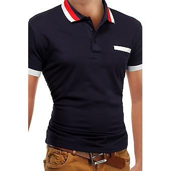 Men&s Polo Shirt T-shirt Polo Polo shirt Stretch Slim fit Clubwear Shirt FIGO