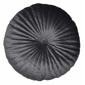 pillow round 38 cm velvet anthracite