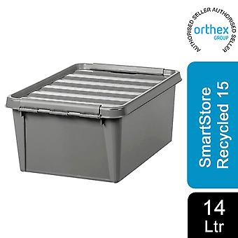 Orthex SmartStore Plastic All Purpose Storage Grey Box, Gerecycled 15 - 14L
