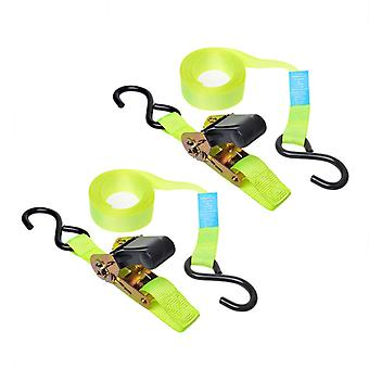 ProPlus strap with ratchet + 2 hooks set of 2 5 m 320204